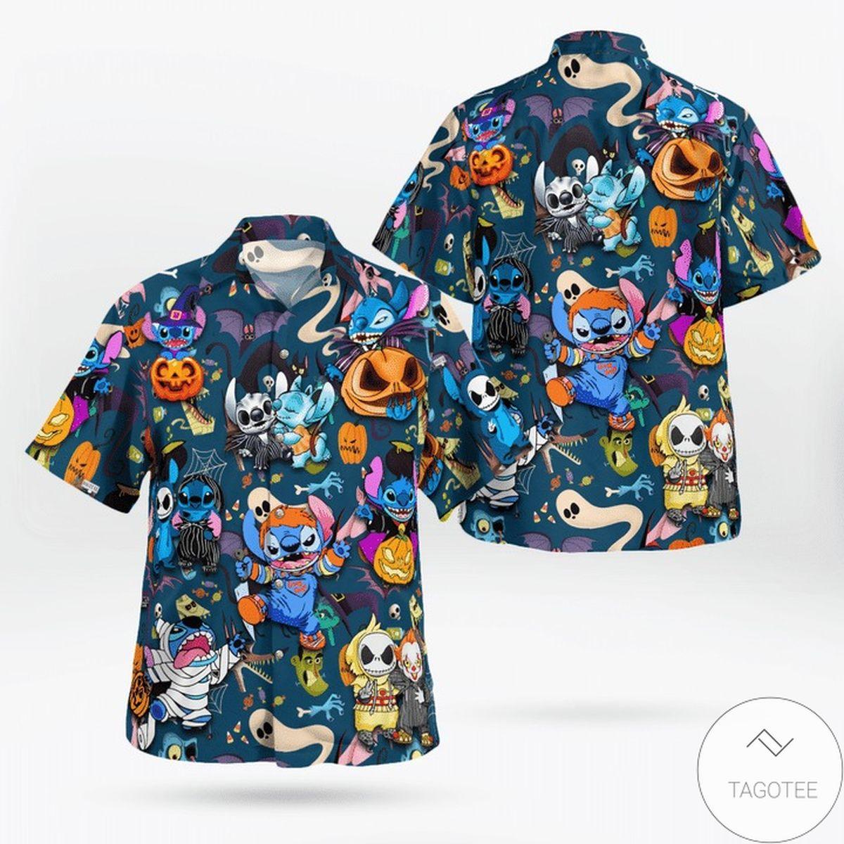 Stitch Halloween Funny Hawaiian Shirt