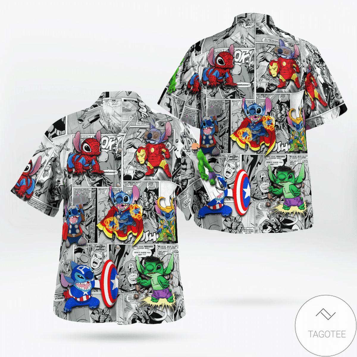 Stitch Marvel Hawaiian Shirt