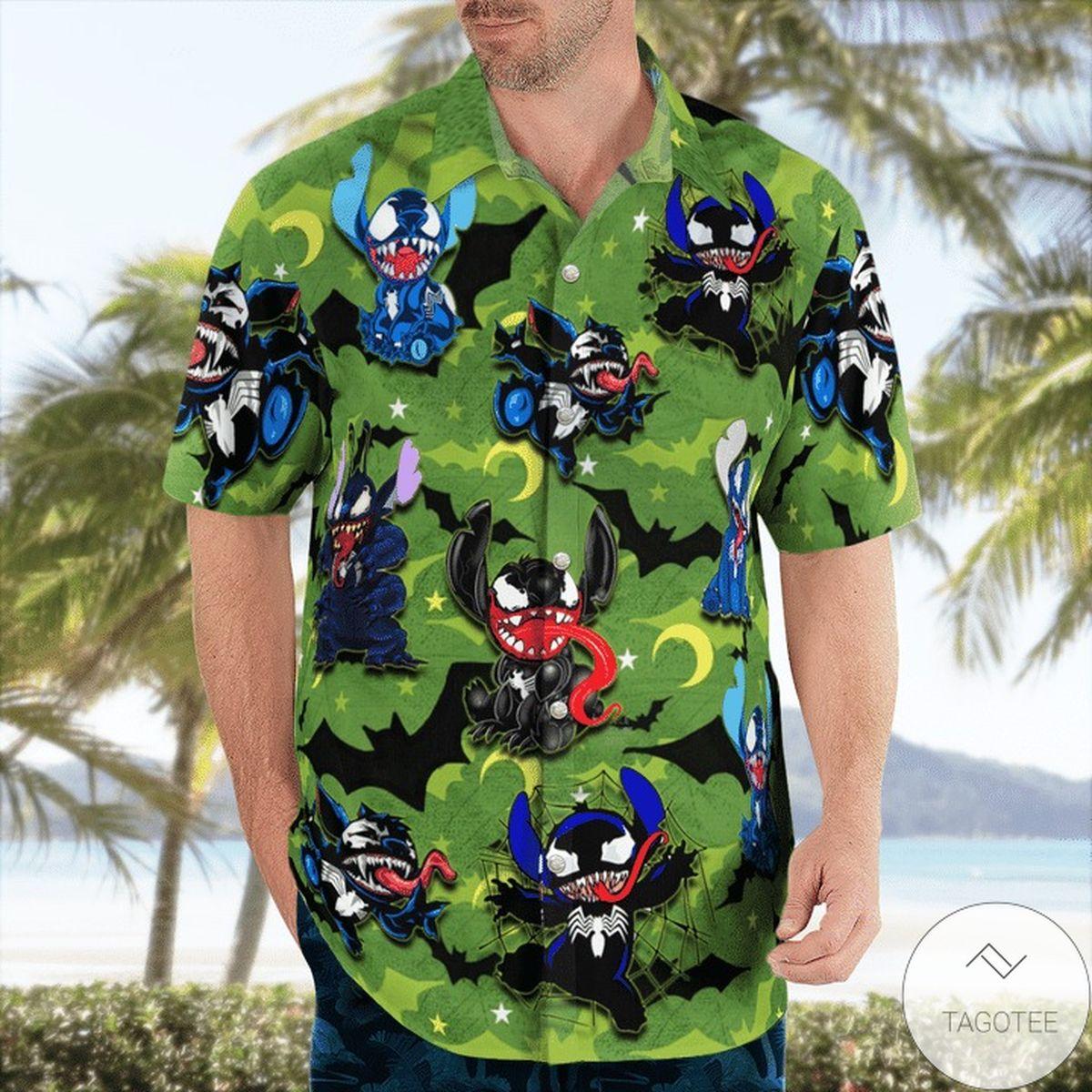 Hot Stitch Venom Hello Darkness My Old Friend Hawaiian Shirt
