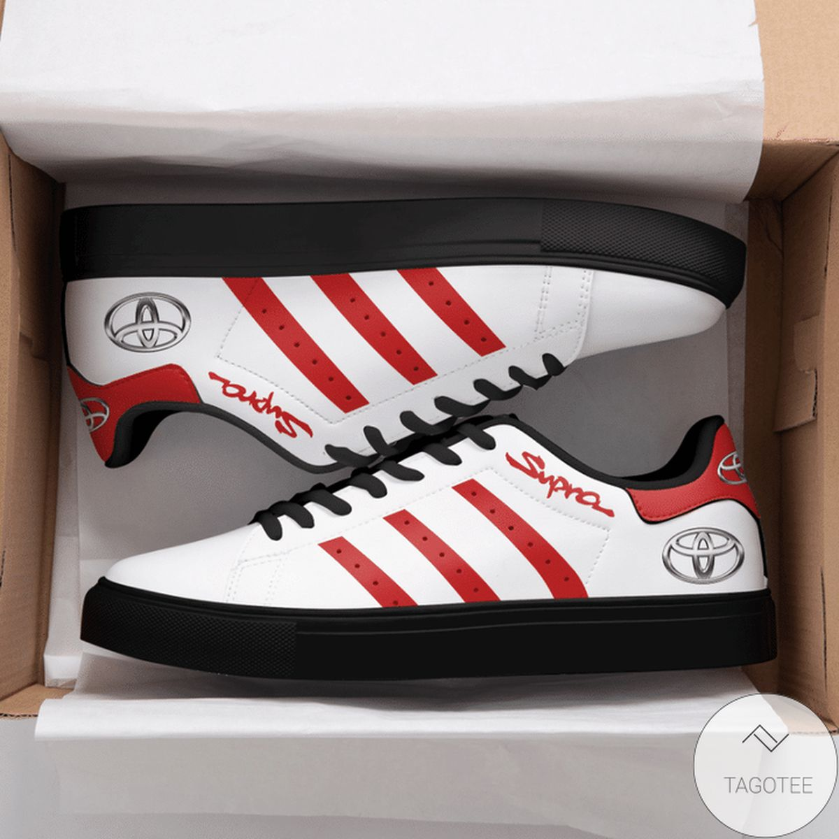 Best Gift Supra Red Stan Smith Shoes