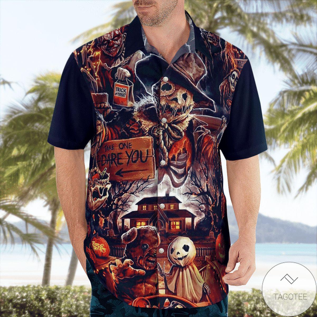 Take One Dare You Halloween Hawaiian Shirt