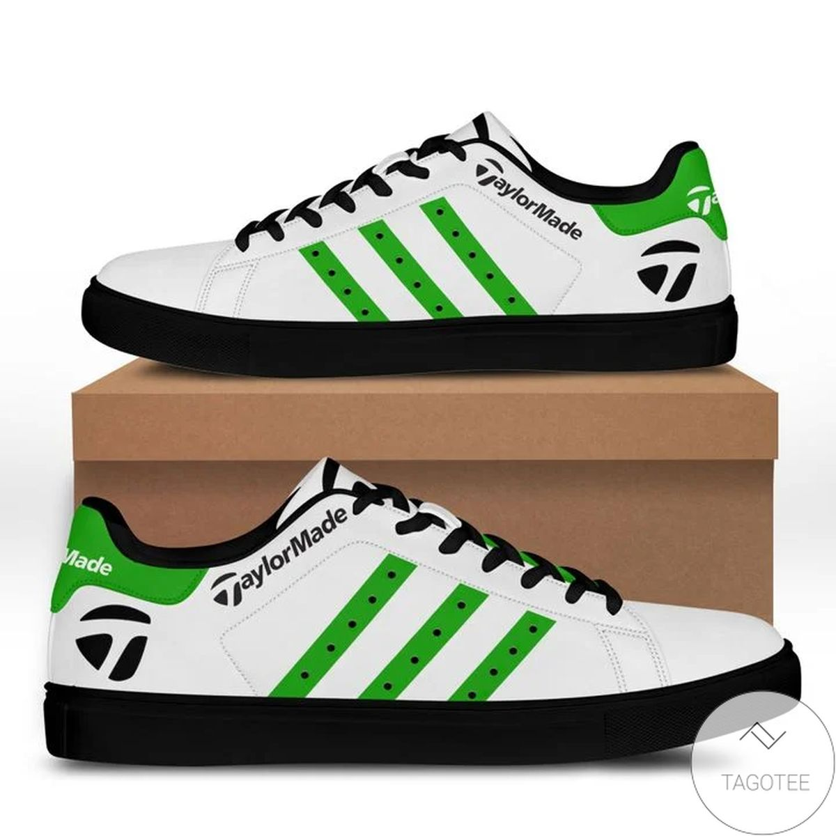 Taylor Made Green Stan Smith Shoes