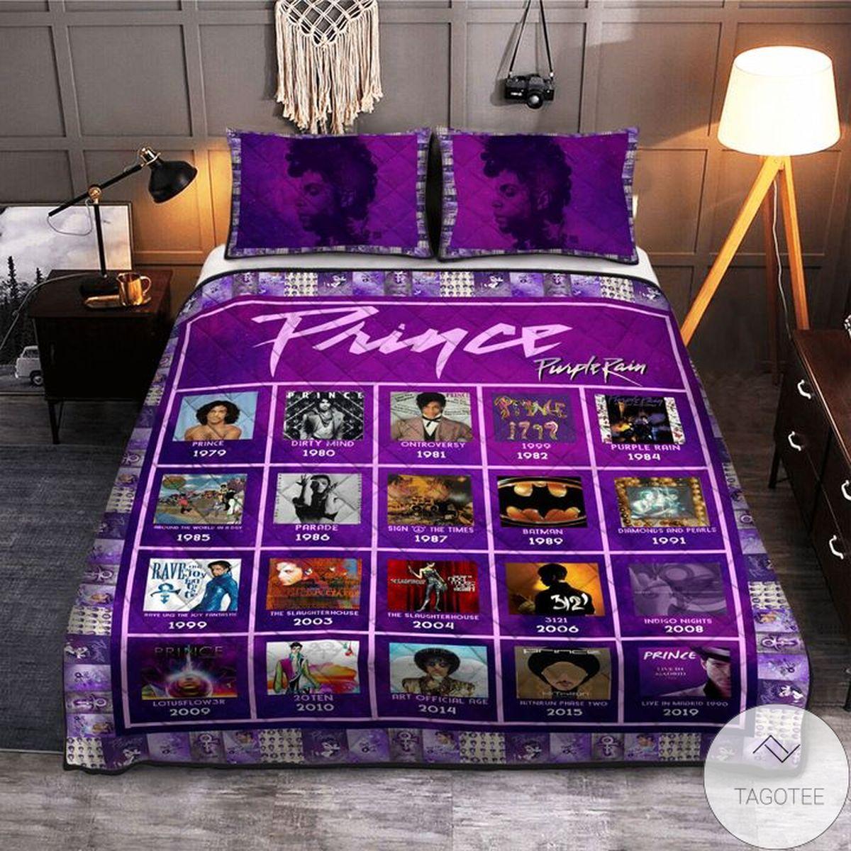 Best The Artist Prince Purple Rain Bedding Set
