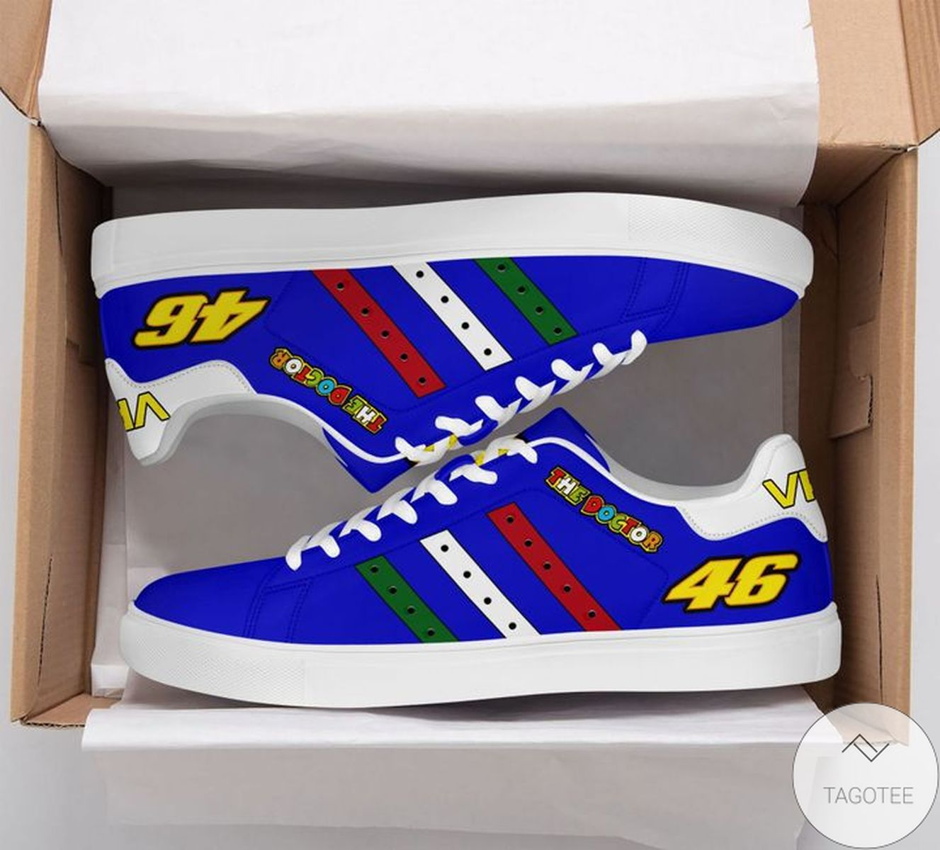 Amazing The Doctor Vr46 Blue Stan Smith Shoes