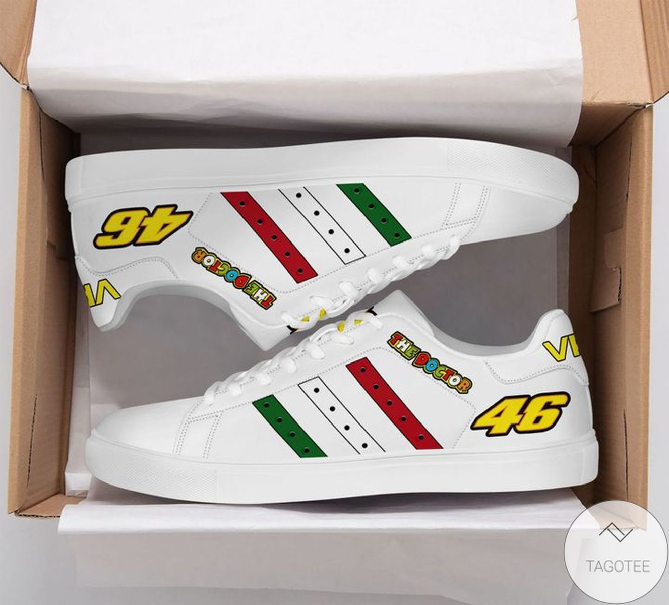 eBay The Doctor Vr46 White Stan Smith Shoes