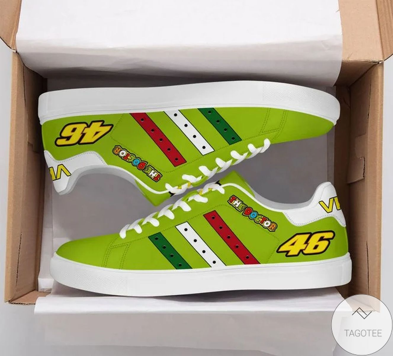 Very Good Quality The Doctor Vr46 Yellow Green Stan Smith Shoes