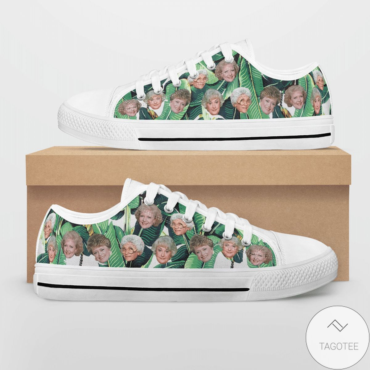 The Golden Girls Tropical Heads Print Low Top Shoes