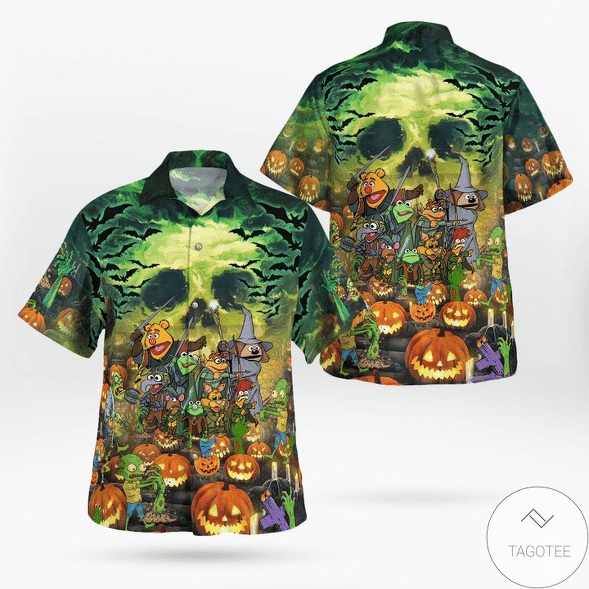 The Muppets Just Wanna Have Fun Halloween Hawaiian Shirt