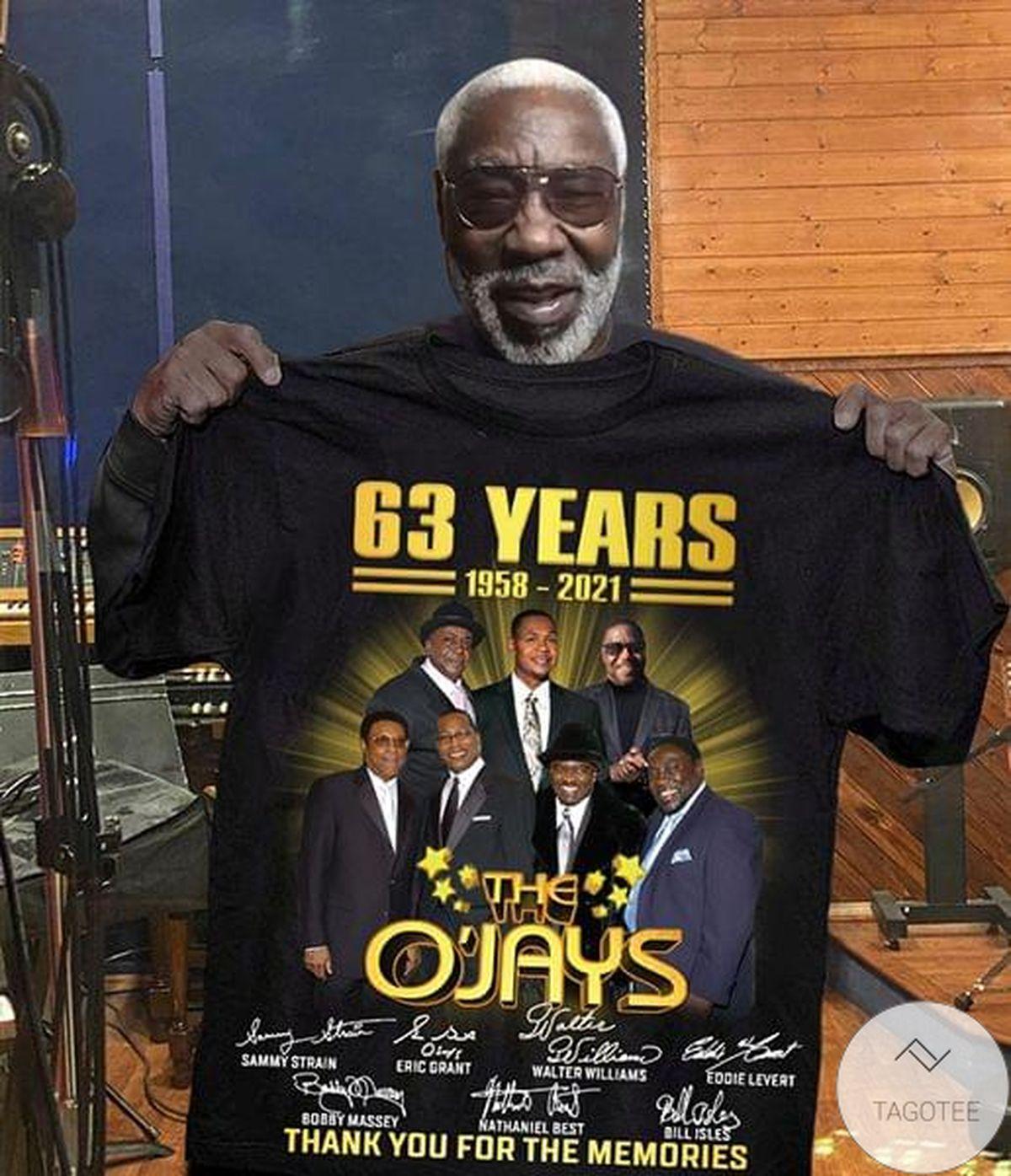 Present The O'jays 63 Years Anniversary 1958 2021 Shirt, hoodie, tank top