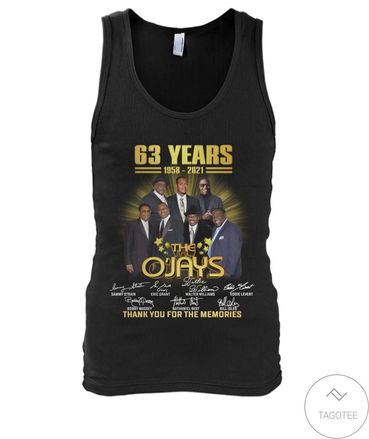 US Shop The O'jays 63 Years Anniversary 1958 2021 Shirt, hoodie, tank top