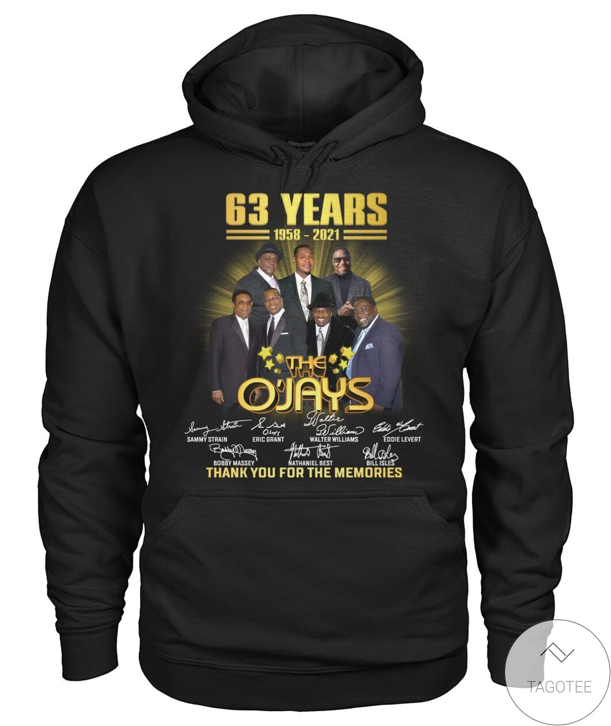 Official The O'jays 63 Years Anniversary 1958 2021 Shirt, hoodie, tank top