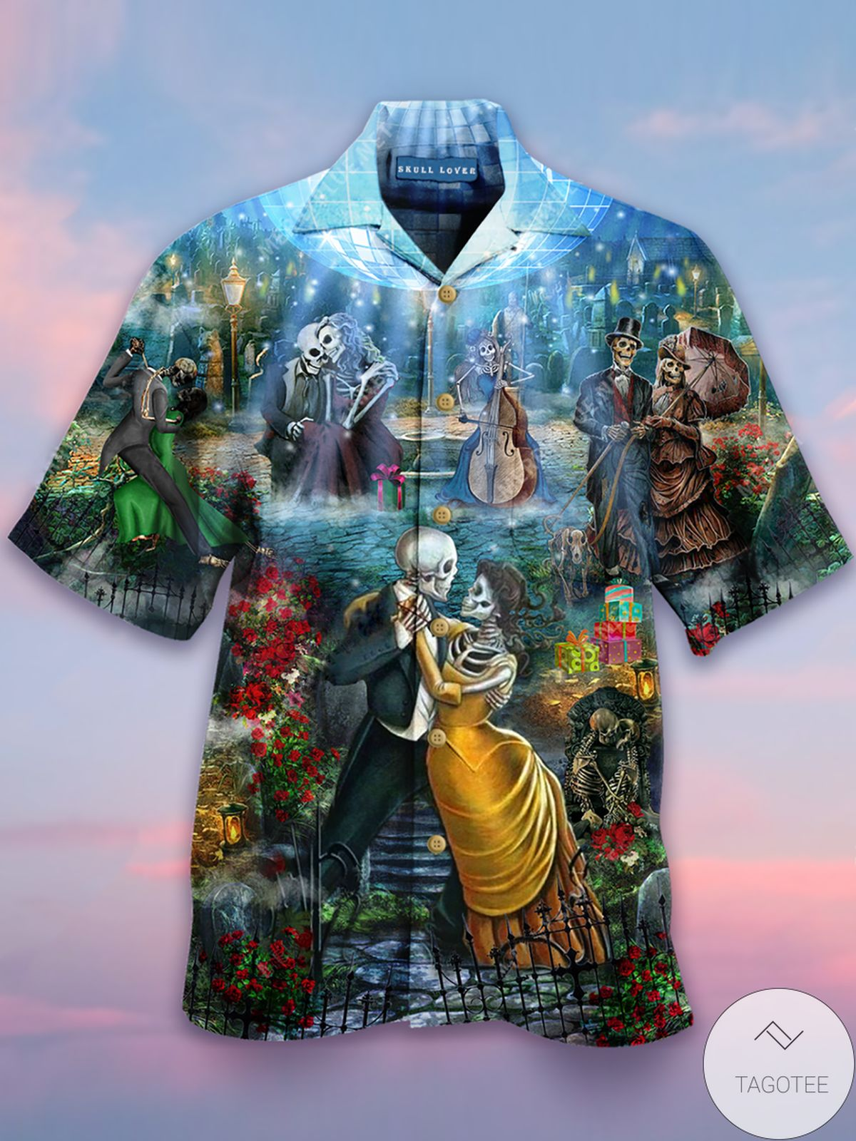 Free The Skeleton Dance Hawaiian Shirt