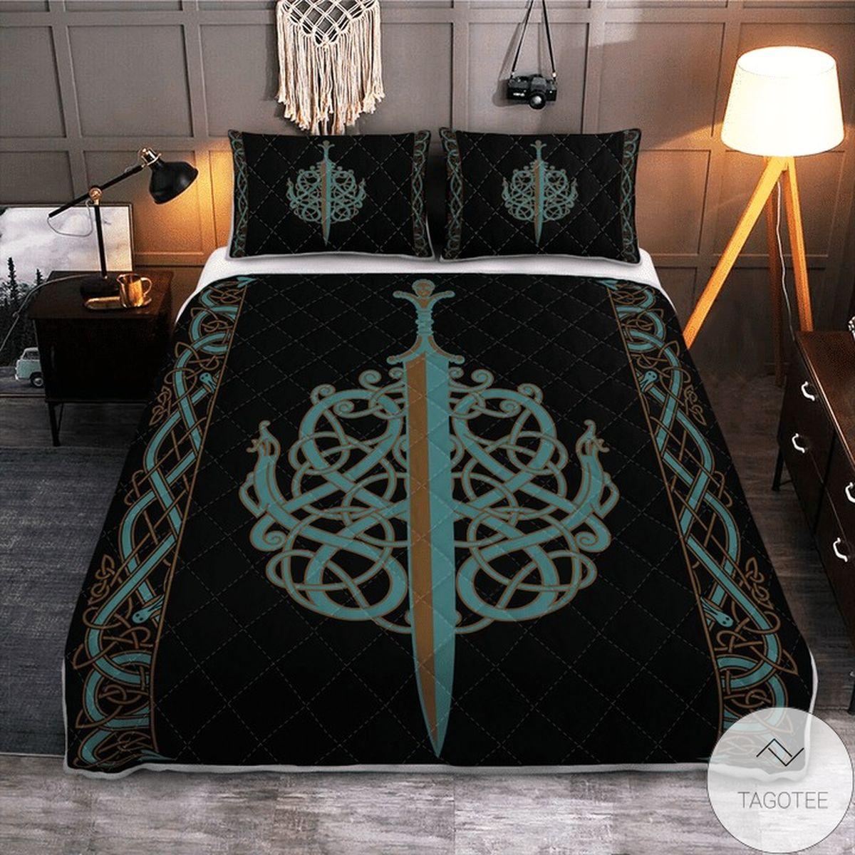 The Ulfberht Swords Viking Quilt Bedding Set