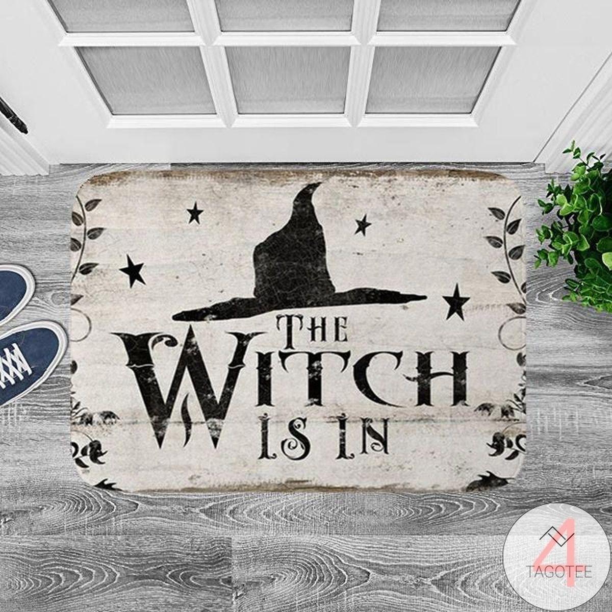 US Shop The Witch Is In Halloween Carpet Doormat