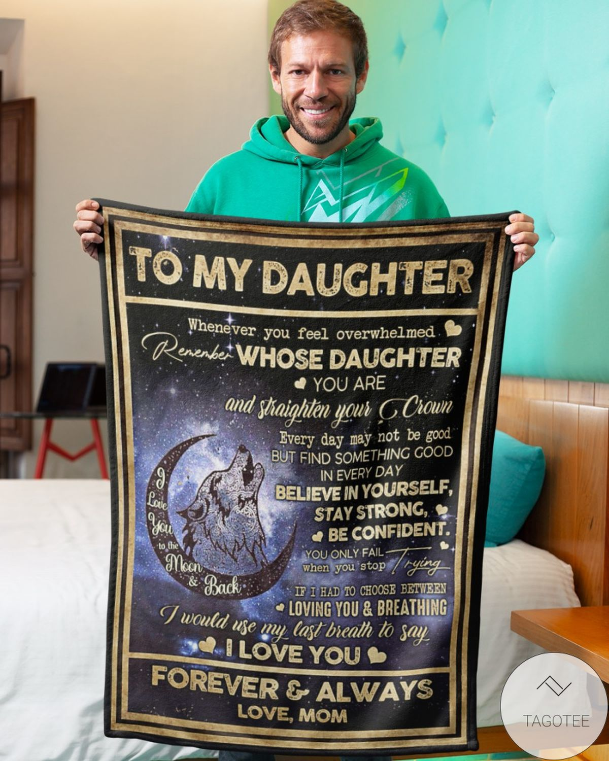 Amazing To My Daughter I Love You Forever And Always Love Mom Blanket