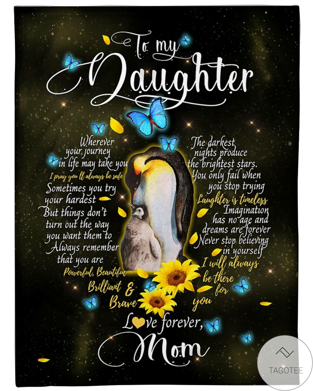 Fantastic To My Daughter Love Forever Mom Blanket