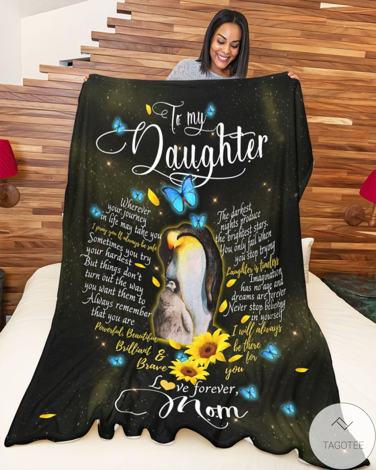 Hot Deal To My Daughter Love Forever Mom Blanket