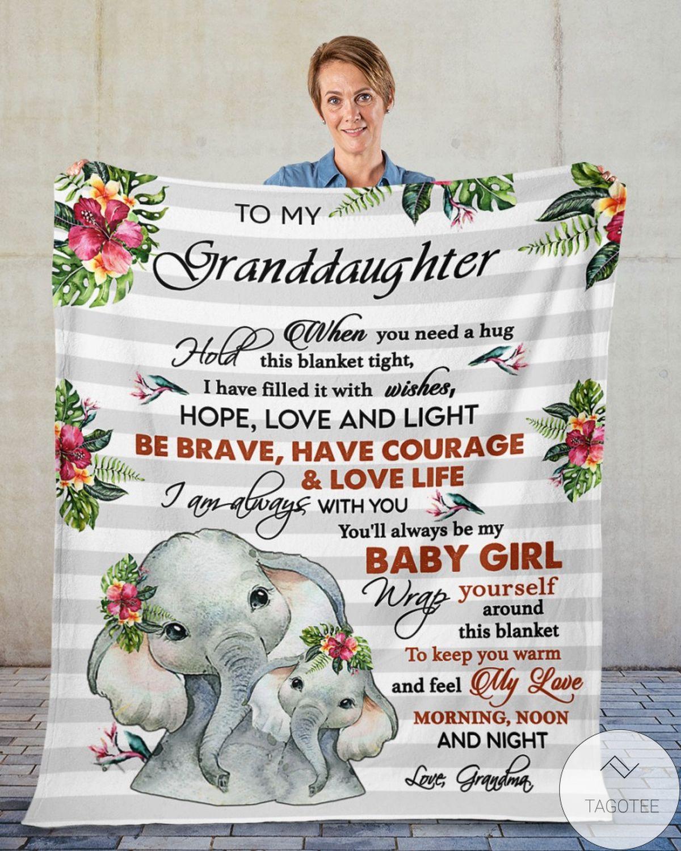 To My Granddaughter Elephants Blanketz