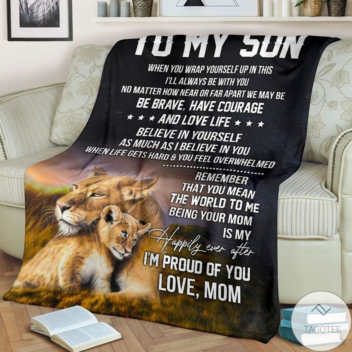 To My Son I'm Proud Of You Love Mom Blanket