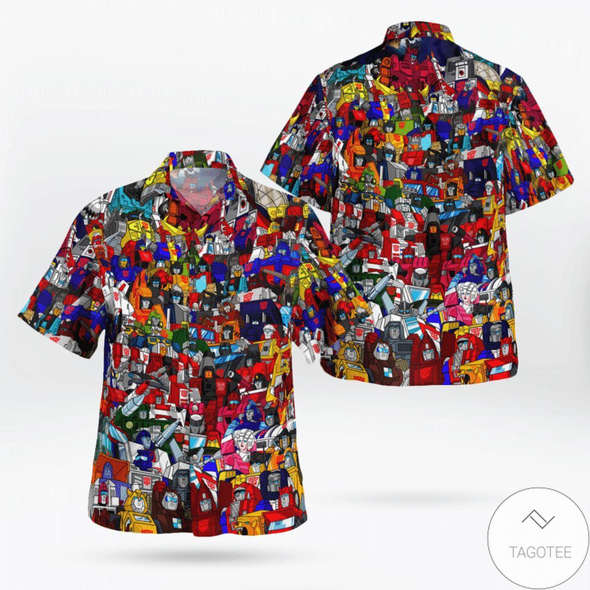 Amazon Transformer 80s Hawaiian Shirt
