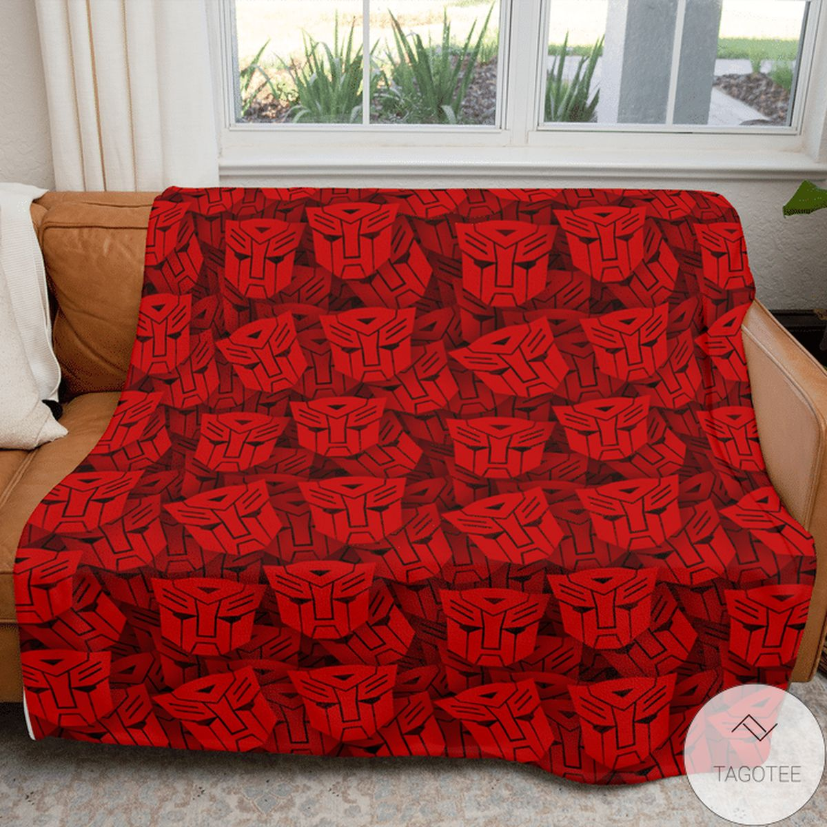 Mother's Day Gift Transformer Pattern 80s Red Blanket