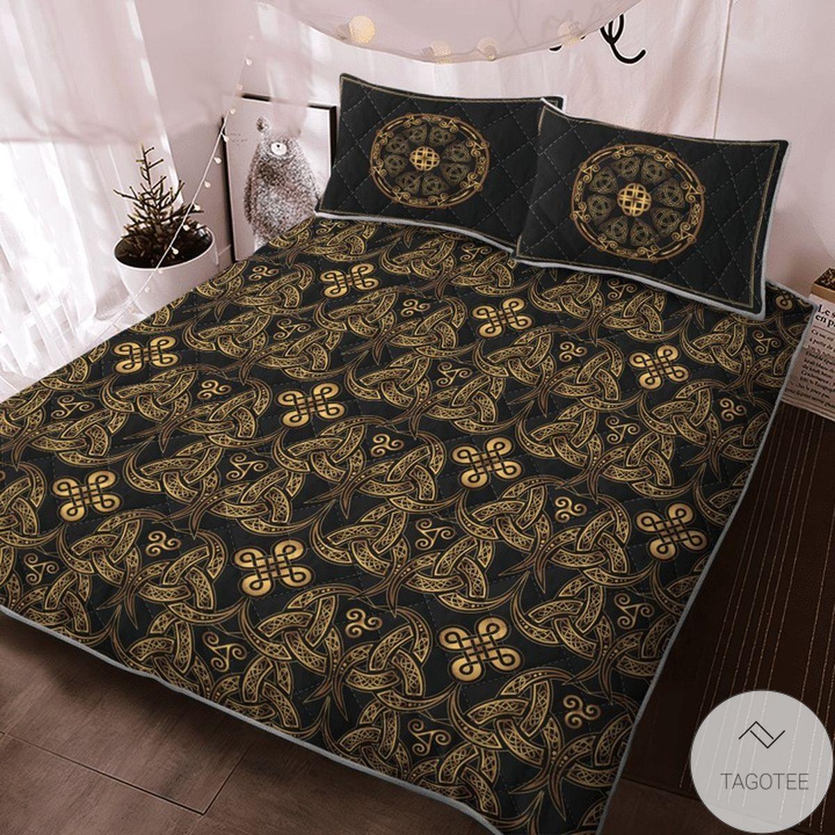 Where To Buy Triple Horn Of Odin Viking Quilt Bedding Set