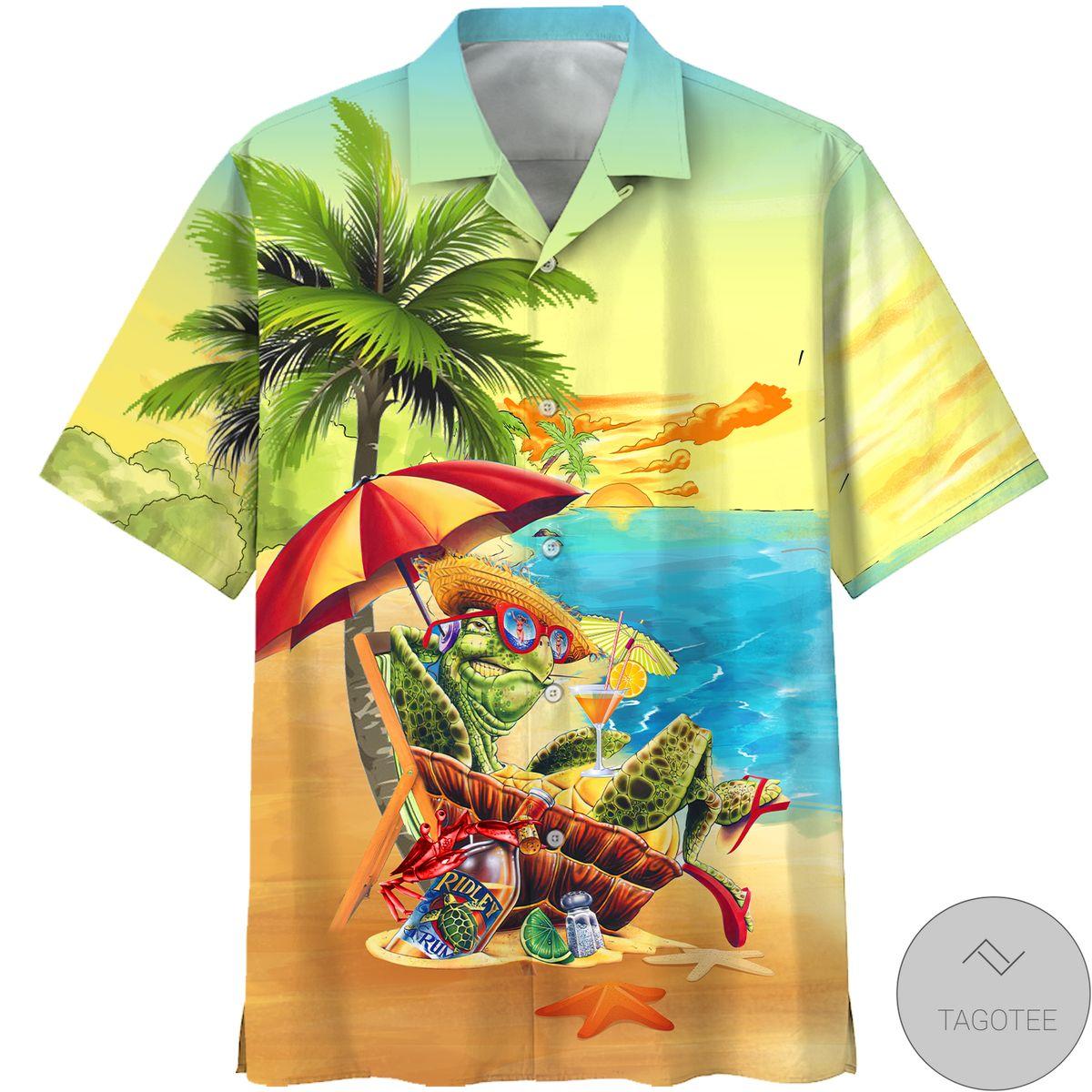 Where To Buy Turtle On The Beach Hawaiian Shirt