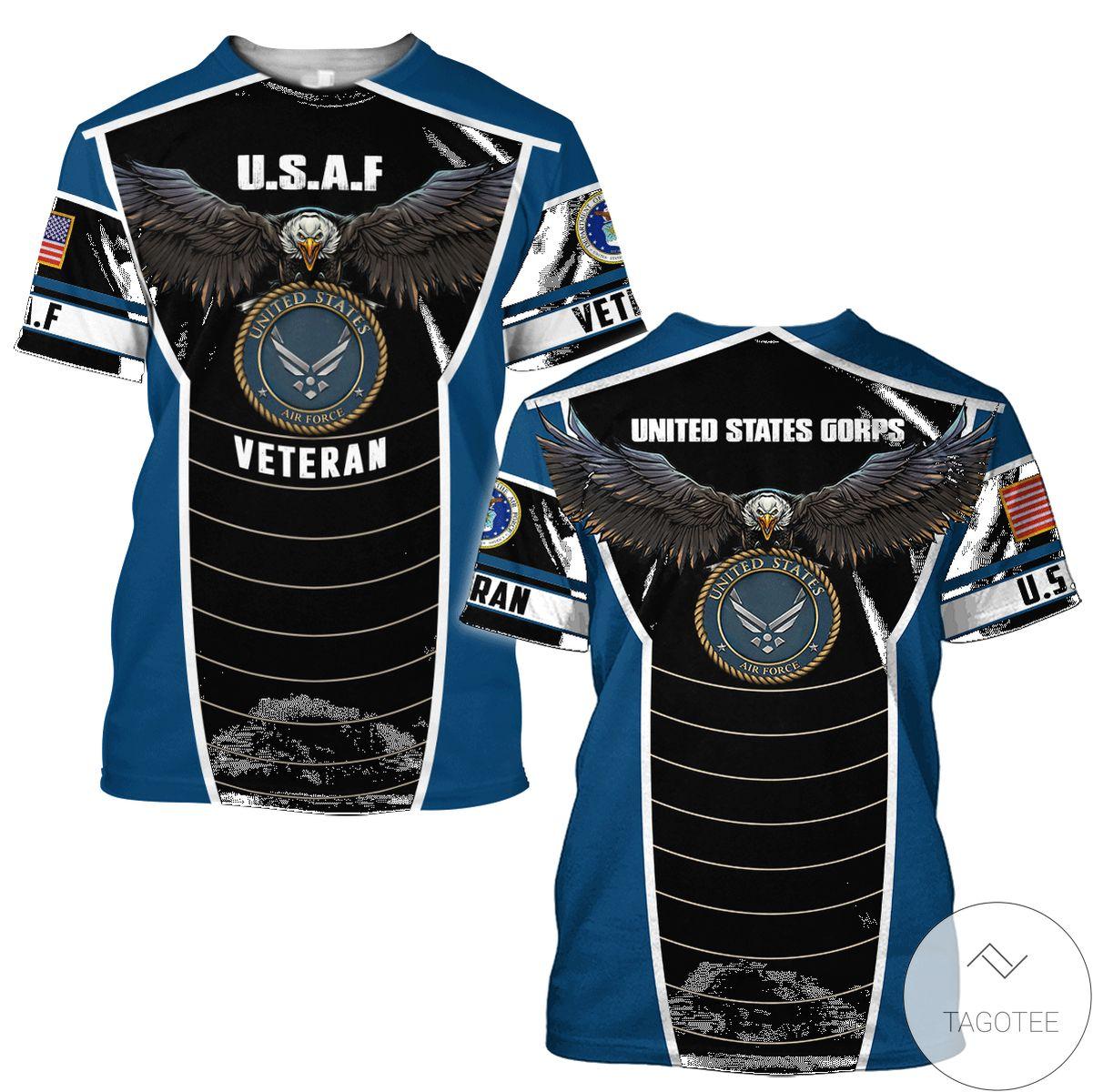 3D U.s Air Force Veteran Eagle Pride 3D All Over Print Hoodie