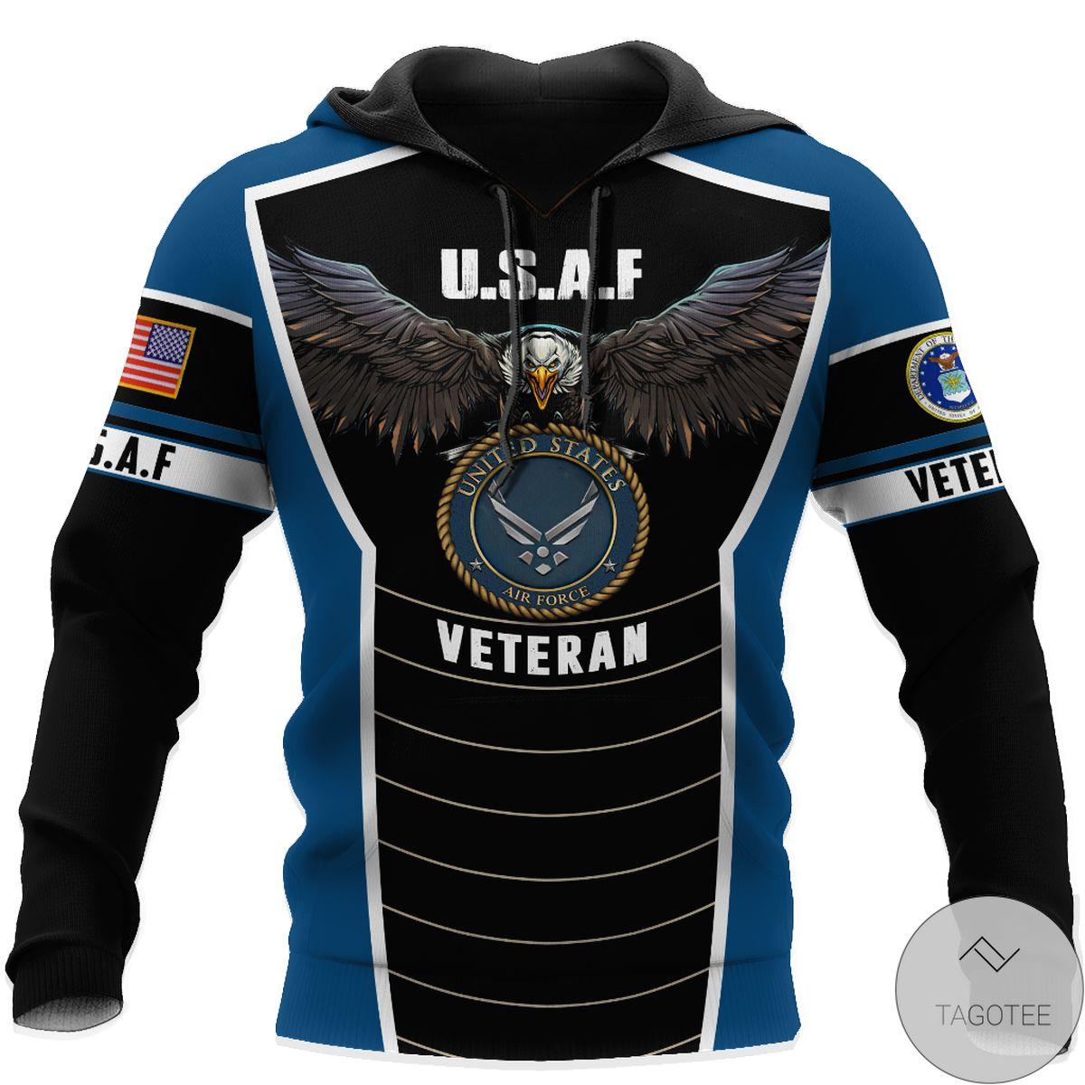 Adult U.s Air Force Veteran Eagle Pride 3D All Over Print Hoodie