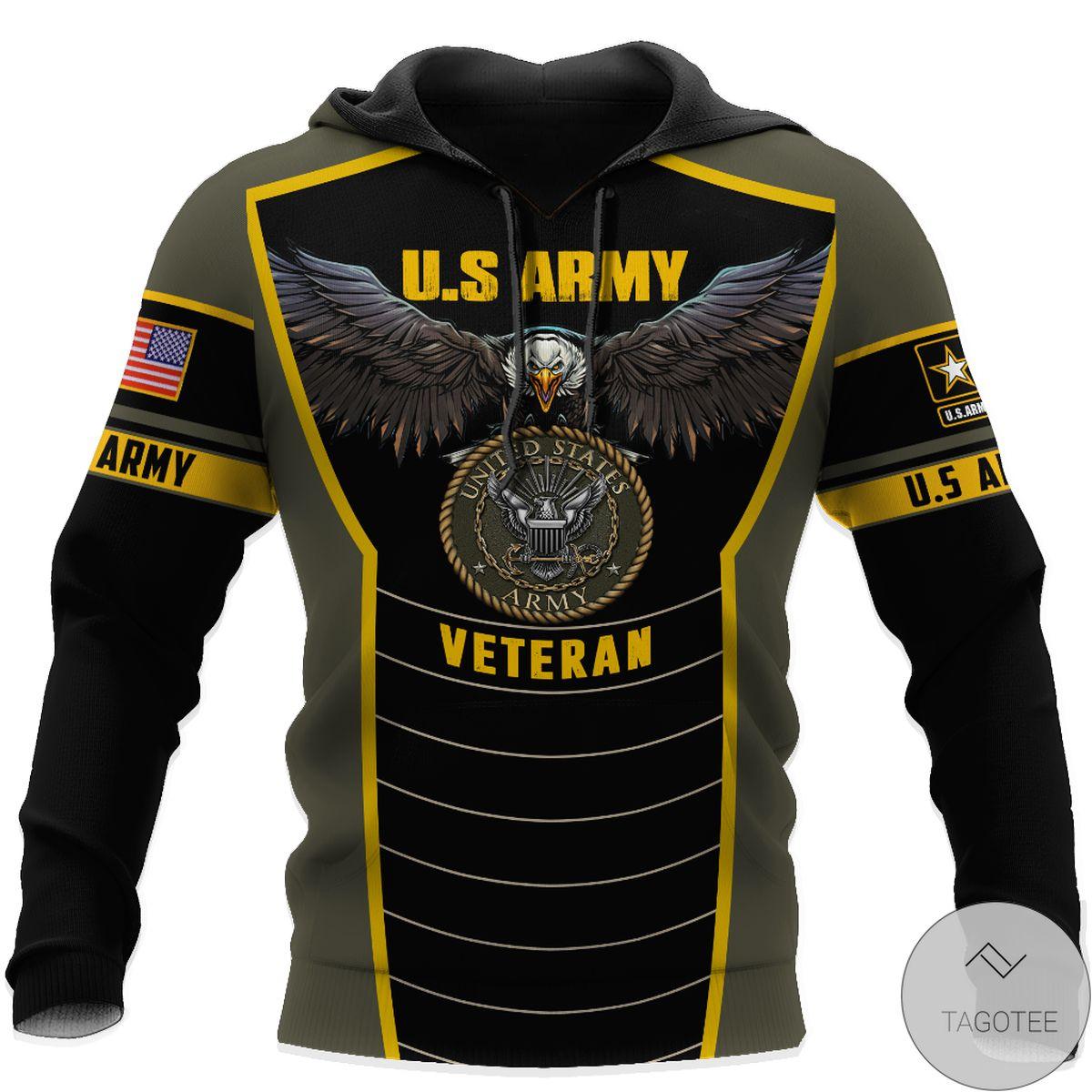 US Shop U.s Army Veteran Eagle Pride 3D All Over Print Hoodie