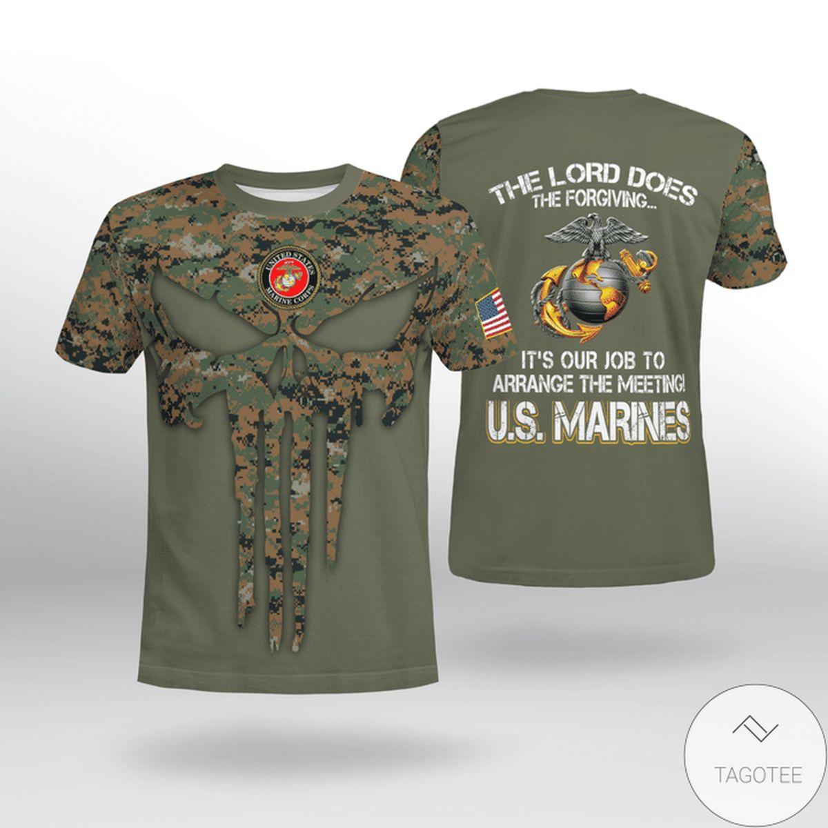 USMC The Lord Does The Forging U.s Marine Camo Shirt