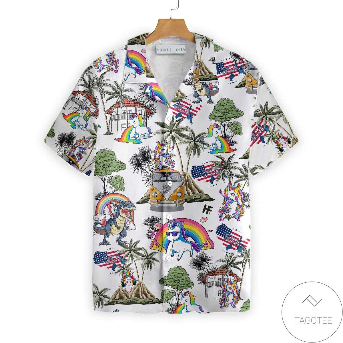 Unique Unicorn Summer Beach Pattern Hawaiian Shirt