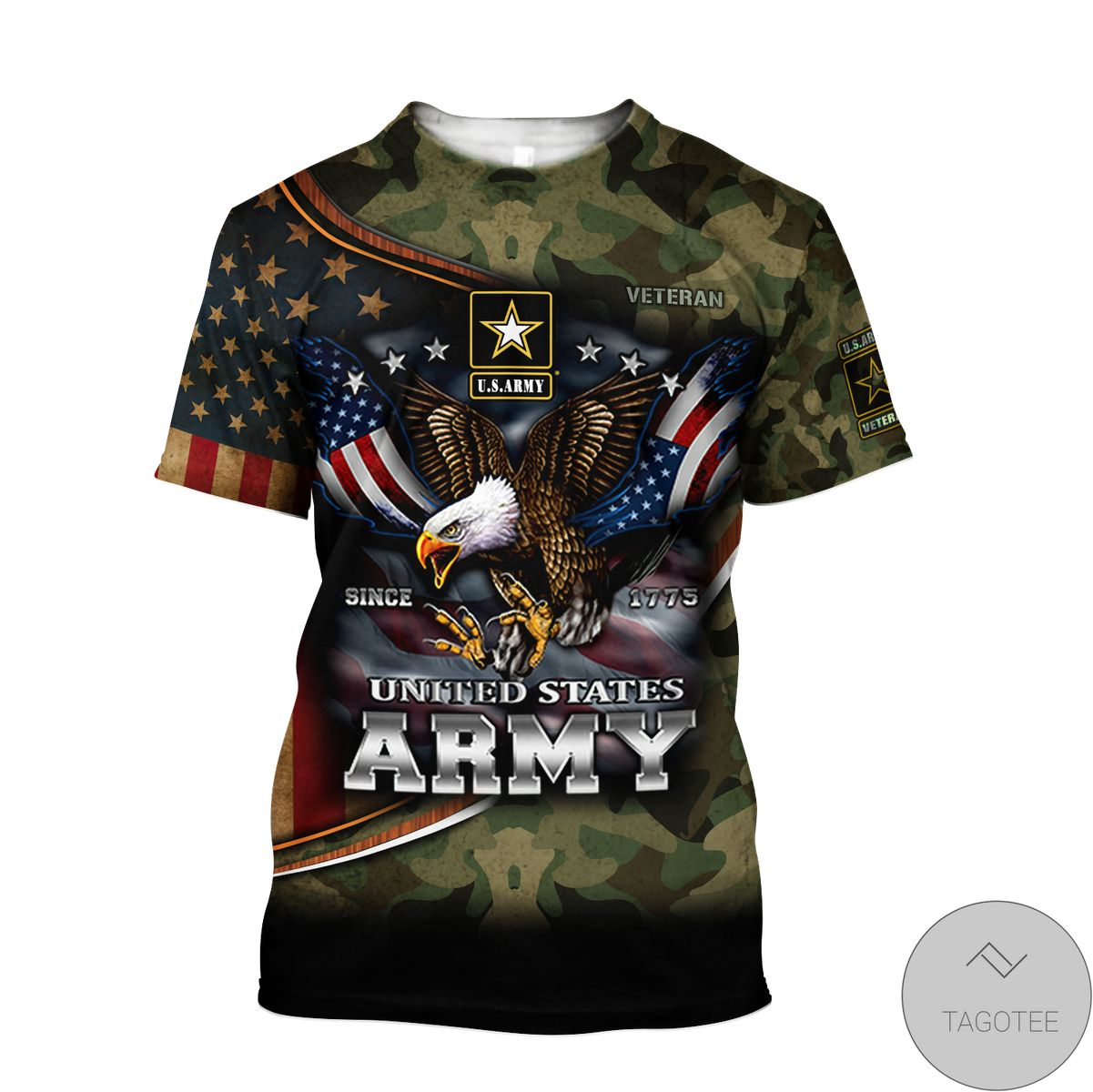 Us Army Hoodie Since 1775 Eagle With Army 3D All Over Print Hoodie c