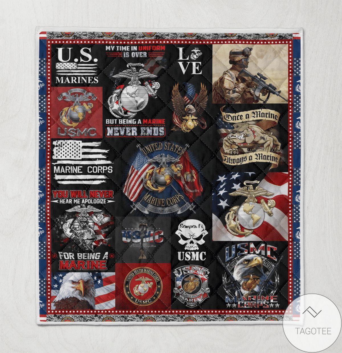 US Shop Us Marine Corp Quilt