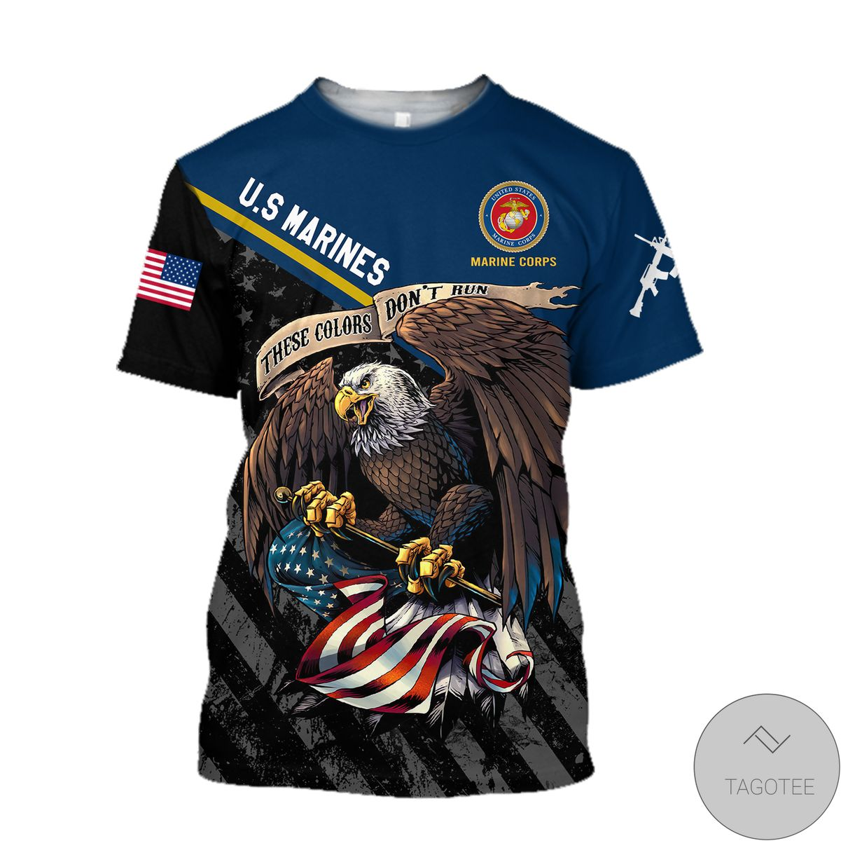 Free Us Veteran Marine Corps 3D All Over Print Hoodie