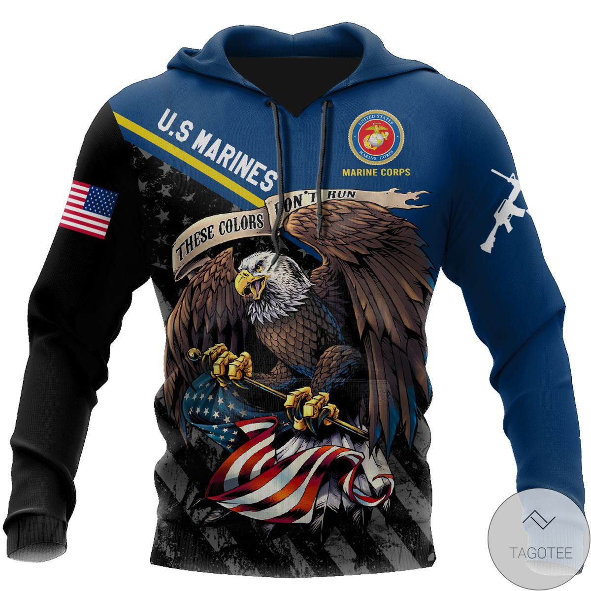 Fast Shipping Us Veteran Marine Corps 3D All Over Print Hoodie
