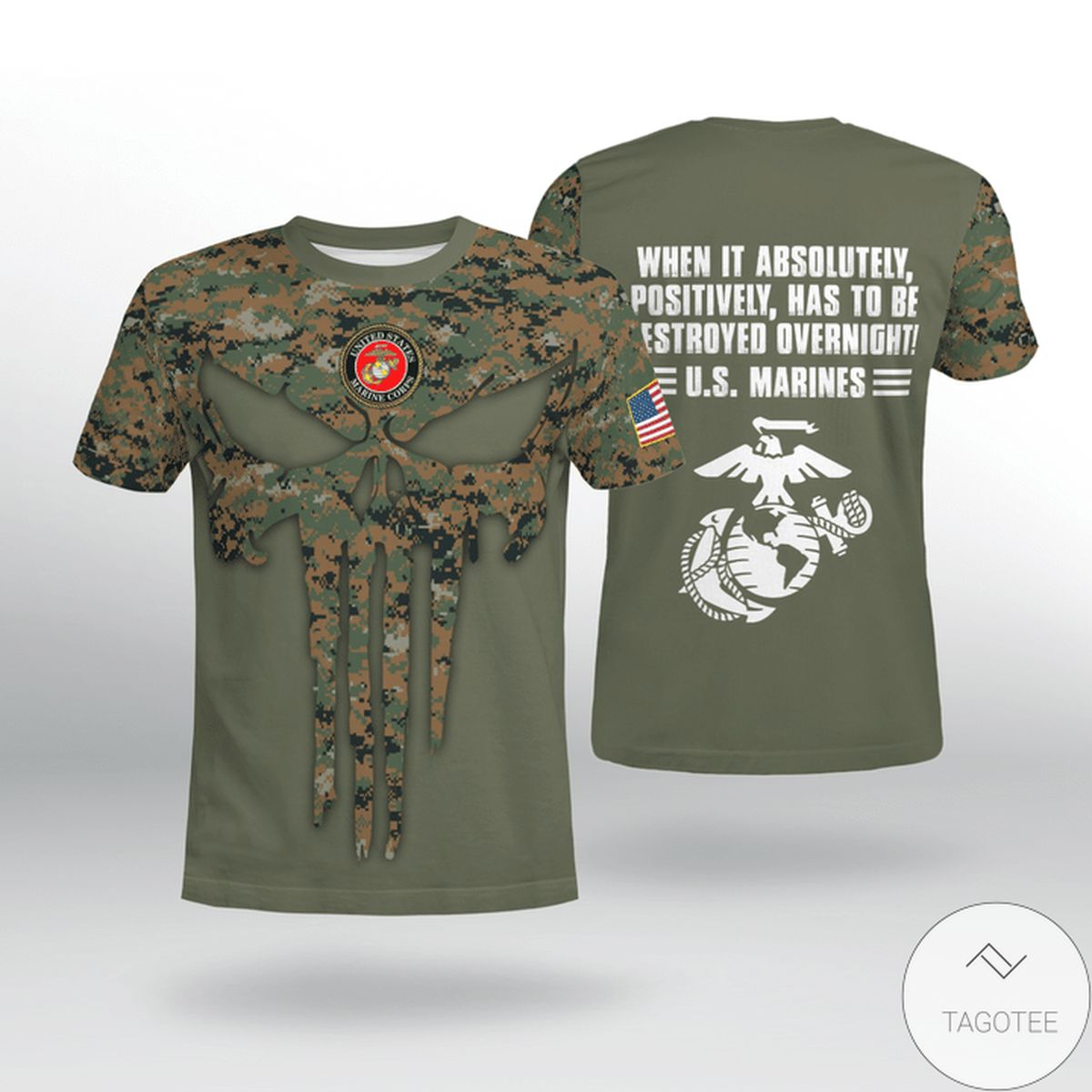 Usmc When It Absolutely Positively Has To Be There Overnight Shirt