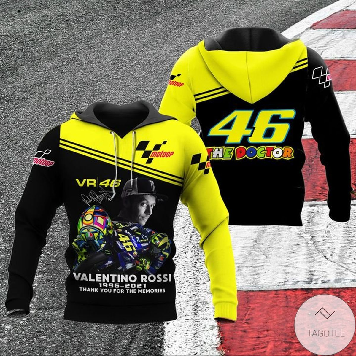 Vibrant Valentino Rossi 46 The Doctor Hoodie
