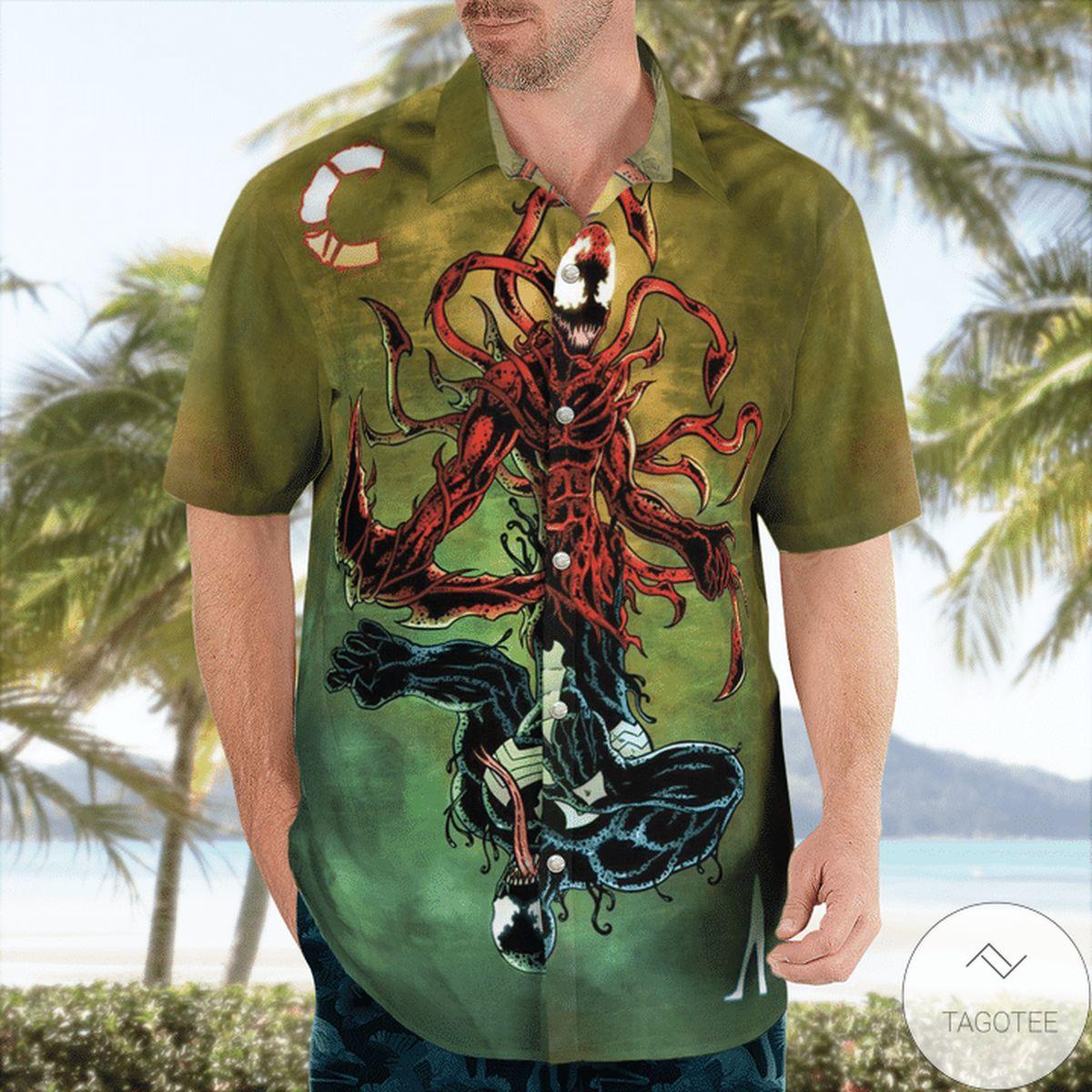 Free Ship Venom Carnage Hawaiian Shirt