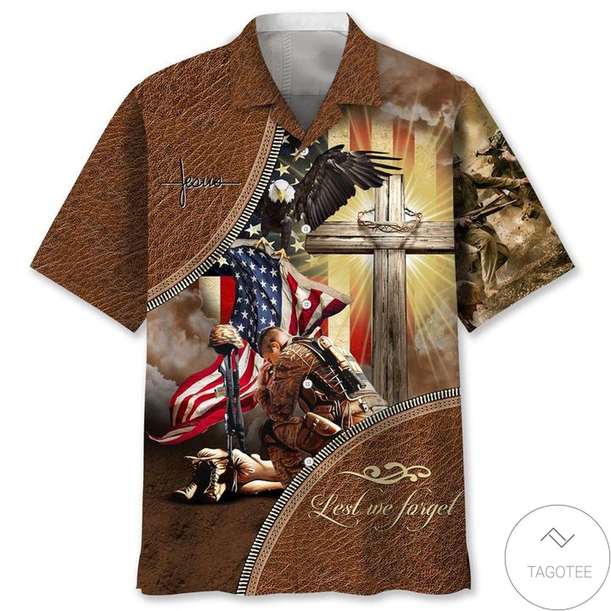 Perfect Veteran Lets We Forget Hawaiian Shirt