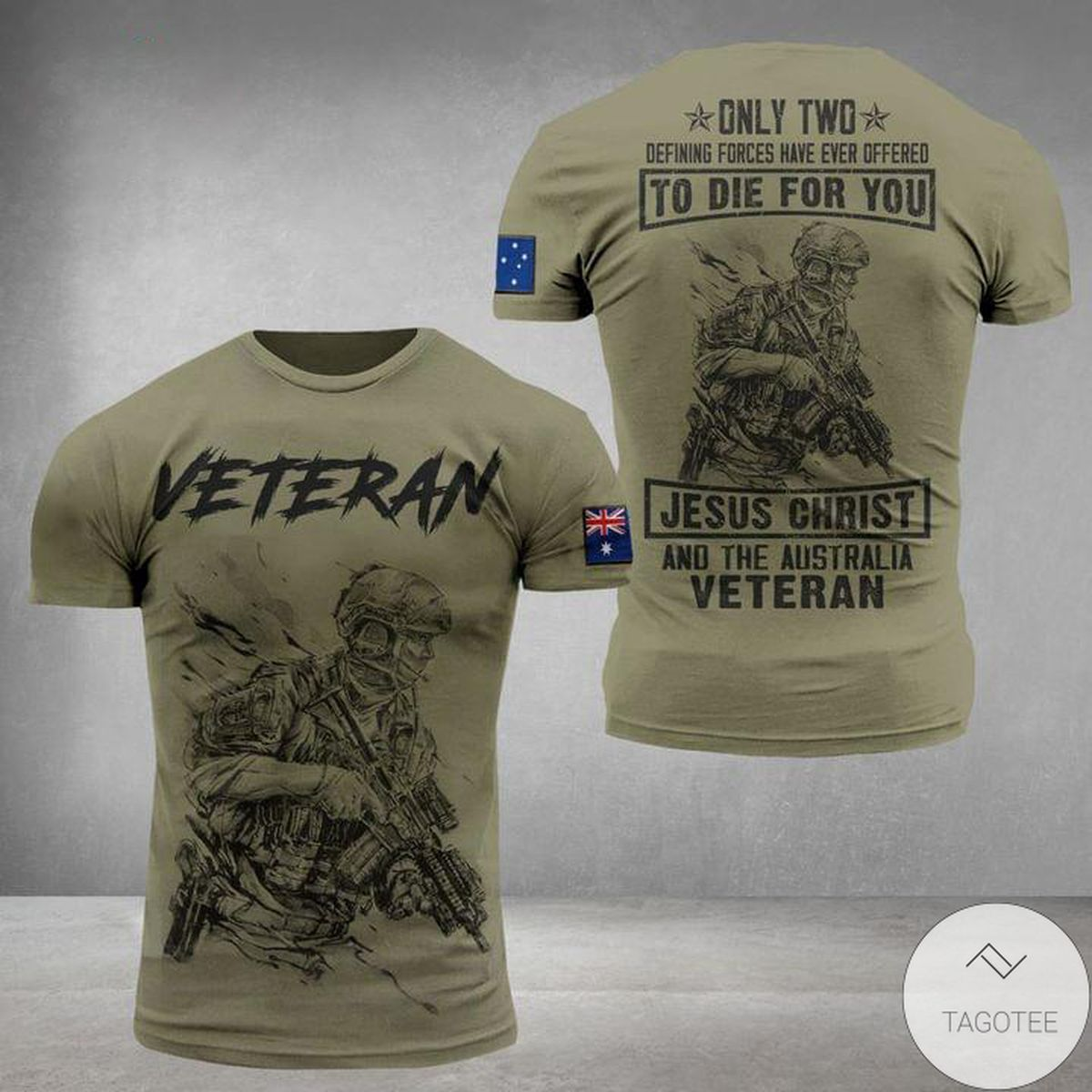 Veteran To Die For You Jesus Christ And The Australia 3D T-Shirt