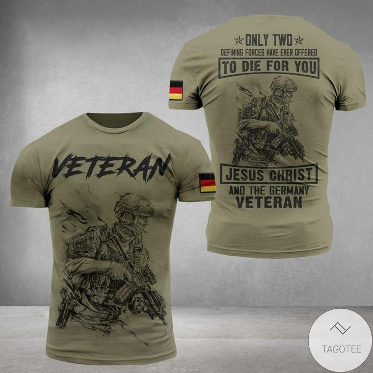 Veteran To Die For You Jesus Christ And The Germany 3D T-Shirt