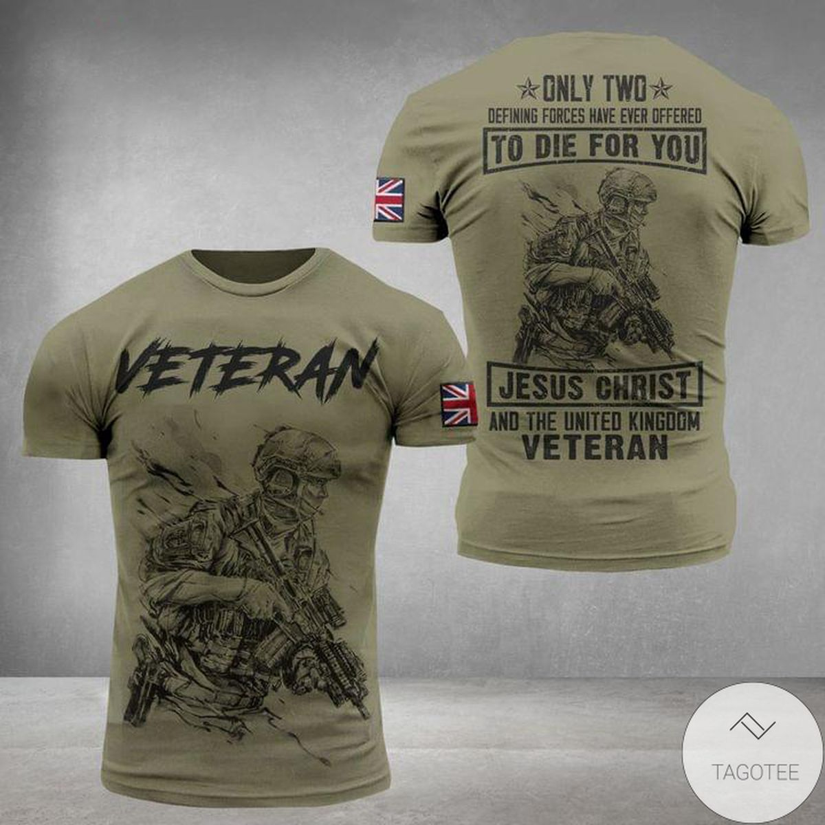 Veteran To Die For You Jesus Christ And The United Kingdom 3D T-Shirt