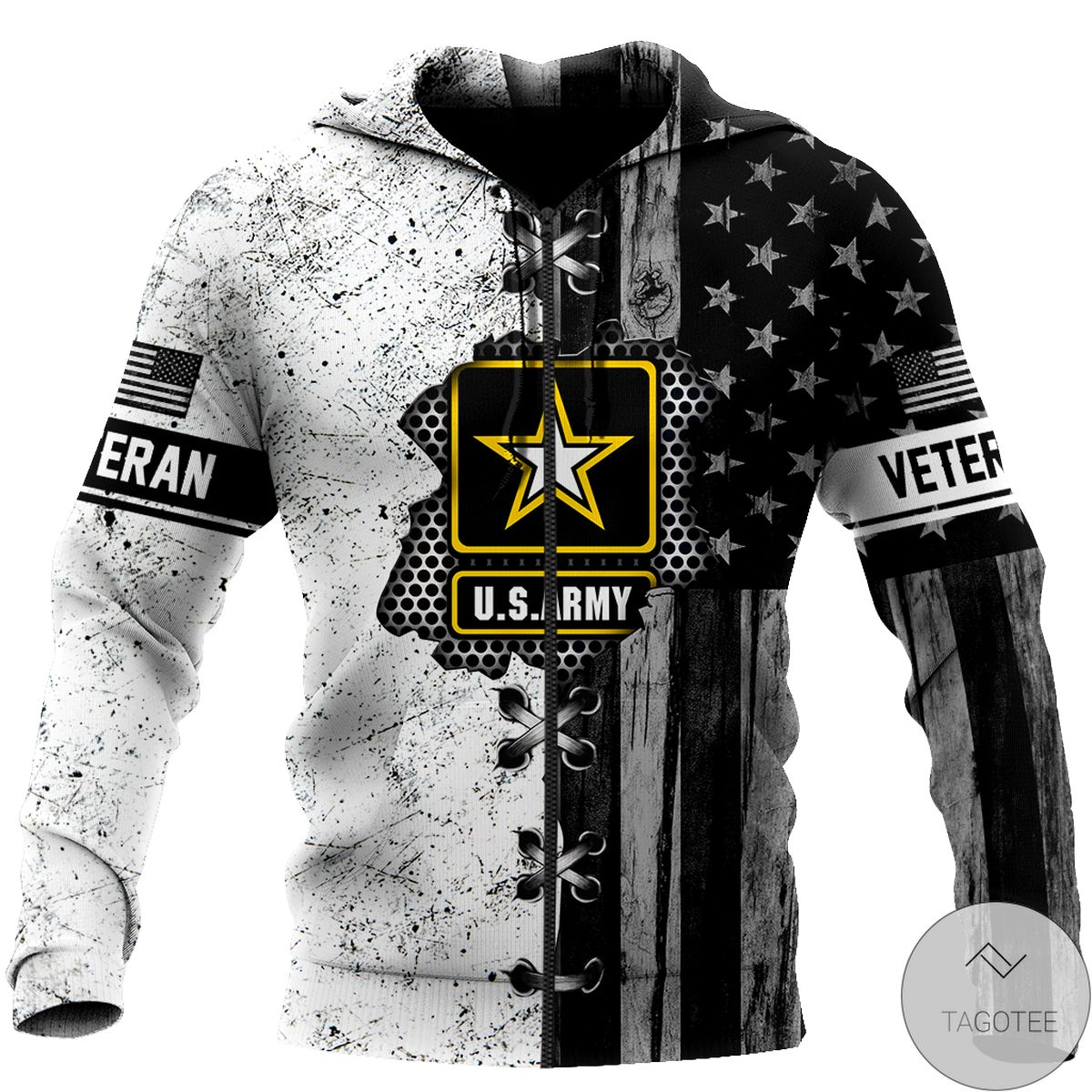 Top Rated Veteran Us Army In My Heart 3D All Over Print Hoodie