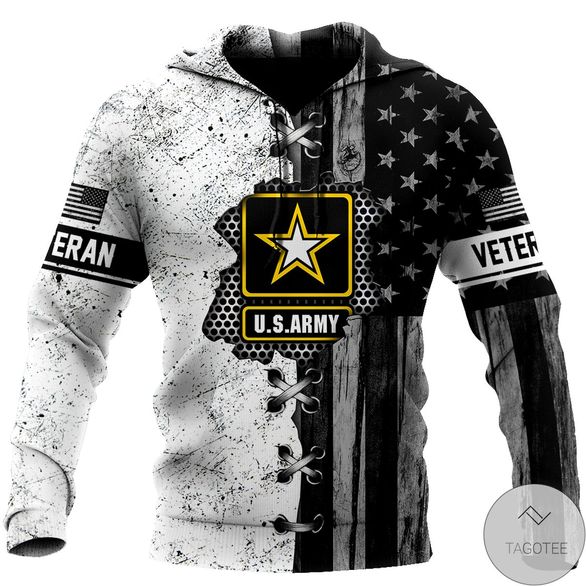 Fast Shipping Veteran Us Army In My Heart 3D All Over Print Hoodie