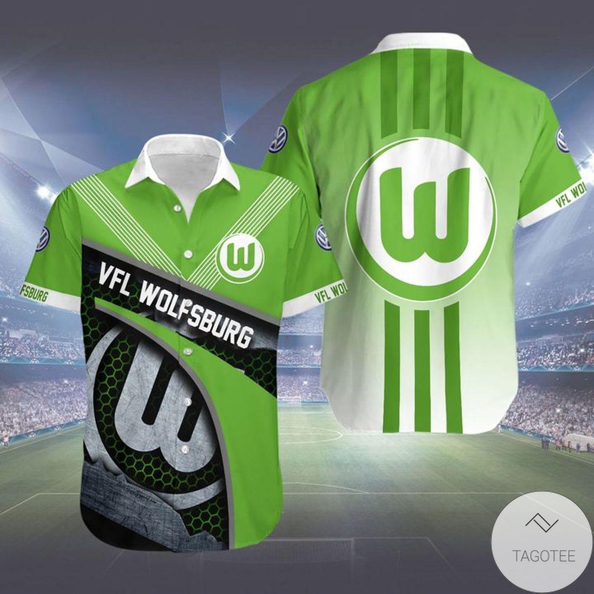 Official VfL Wolfsburg Fc Hwaiian Shirt