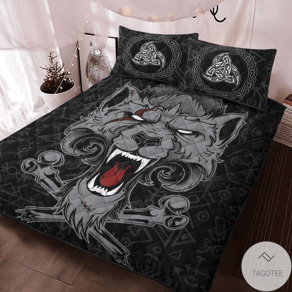 Free Viking Dead Wolf Fenrir Quilt Bedding Set