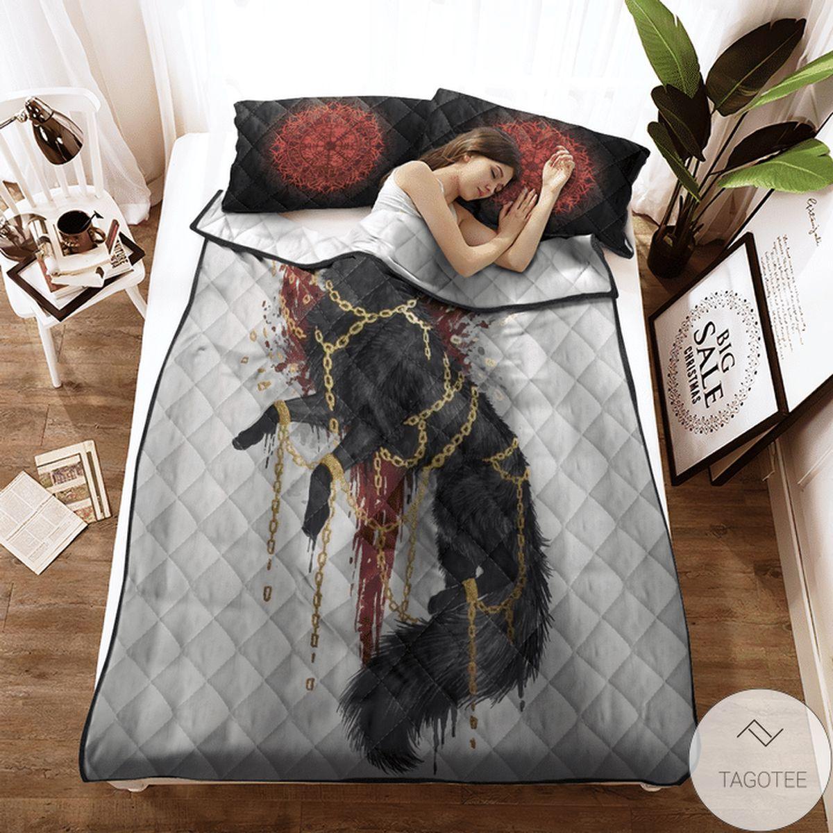 Drop Shipping Viking Fenrir Quilt Bedding Set