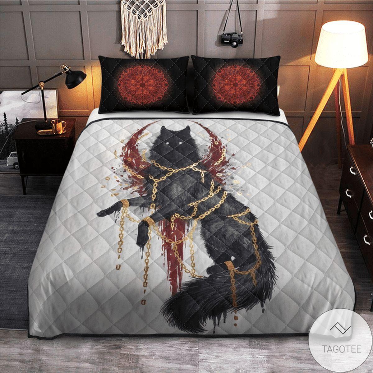 Present Viking Fenrir Quilt Bedding Set