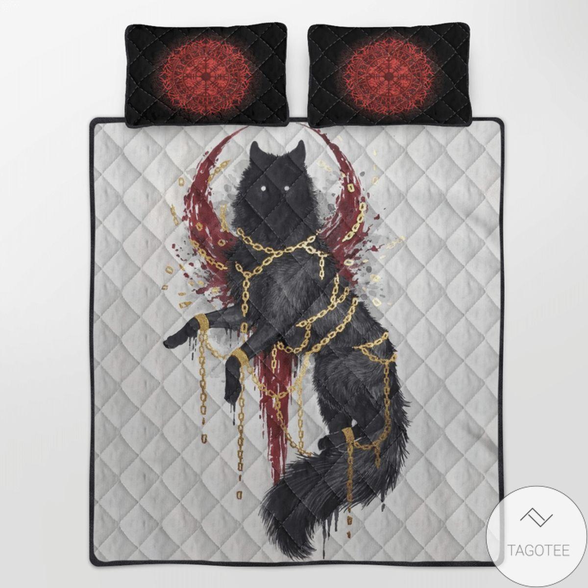 Top Rated Viking Fenrir Quilt Bedding Set